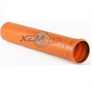 Труба наружная ПВХ Ду 110х3,2х3000 (кирпичный цвет)