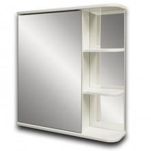 """Зеркало-шкаф """"КЕРСА 02Л"""" 65см полки справа, белое"""