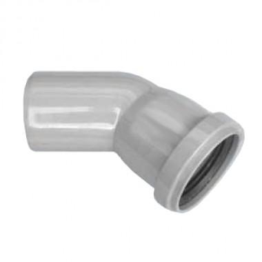 Отвод ПП Ду110х45 гр. с кольцом (Саратовпластика)