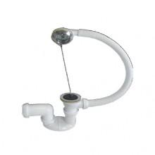 Сифон для ванны (обвязка) нерж.вып. 1 1/2 -40 регулир. (30718059)