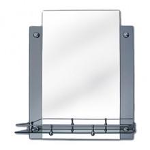 Зеркало модель 0462 (450х550 мм) с креп. (н2к2) с полкой
