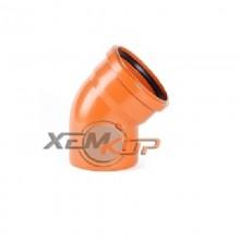 Отвод ПВХ 110х90 (рыжий)