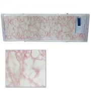 "Экран для ванн 1,5 м ""Оптима"" пластик св.розовый мрамор (1)"