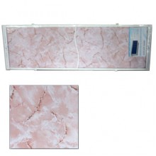 "Экран для ванн 1,7 м ""Оптима"" пластик розовый мрамор (27)"