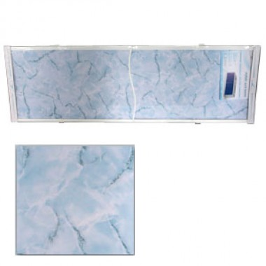 "Экран для ванн 1,5 м ""Оптима"" пластик голубой мрамор (30)"