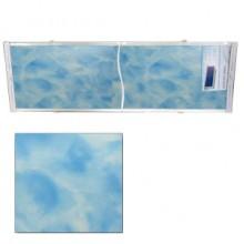 """Экран для ванн 1,7 м """"Оптима"""" пластик синий мрамор (13)"""