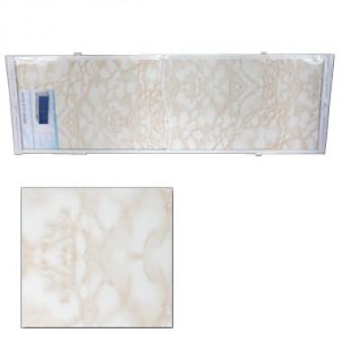 "Экран для ванн 1,7 м ""Оптима"" пластик кремовый мрамор (2)"
