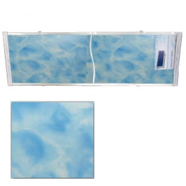 """Экран для ванн 1,5 м """"Оптима"""" пластик синий мрамор (13)"""