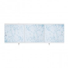"Экран для ванн 1,7 м ""Оптима"" пластик светло-голубой мрамор (3)"