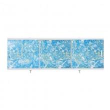 "Экран для ванн 1,5 м ""Оптима"" пластик светло-синий мрамор (7)"