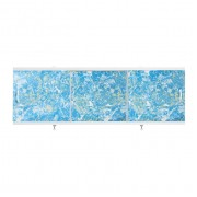 "Экран для ванн 1,7 м ""Оптима"" пластик светло-синий мрамор (7)"