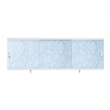 "Экран для ванн 1,5 м ""Оптима"" пластик светло-голубой мрамор (16)"