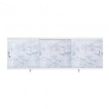 """Экран для ванн 1,5 м """"Оптима"""" пластик серо-голубой мрамор (17)"""
