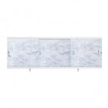 """Экран для ванн 1,7 м """"Оптима"""" пластик серо-голубой мрамор (17)"""