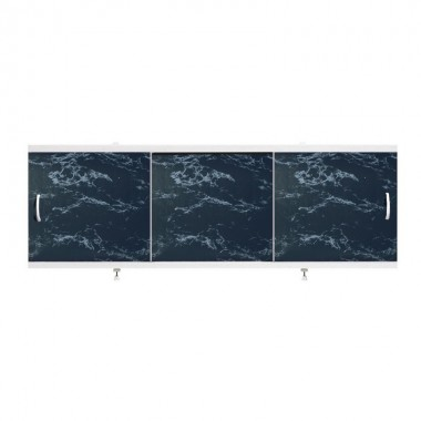 "Экран для ванн 1,5 м ""Оптима"" пластик черный мрамор (25)"