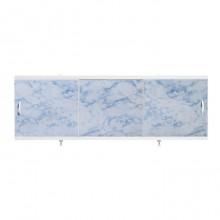 """Экран для ванн 1,7 м """"Оптима"""" пластик серо-синий мрамор (41)"""