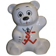 """Подставка """"МИШКА"""" белый с унитазной щеткой (КИРОВ)"""