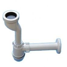 Сифон для писсуара АНИ c выходом на 40 и прямой трубой (U0104)
