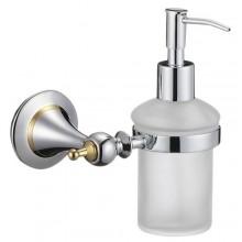 """Диспенсер ZOLLEN """"ESSEN chrome"""" (ES83424) для жидкого мыла с держателем, настенный"""