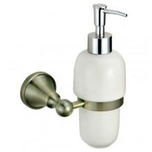 """Диспенсер ZOLLEN """"BREMEN"""" (BR83427) для жидкого мыла с держателем, настенный"""