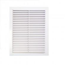 Решетка вентиляционная вытяжная 110*220, материал ABS-пластик белая. Серия В
