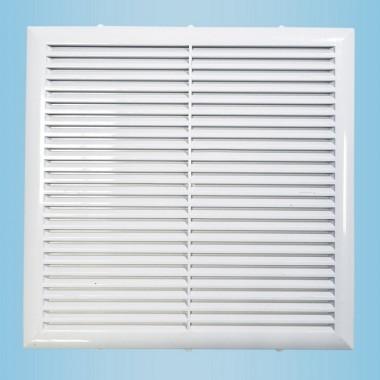 Решетка вентиляционная вытяжная 130*130 белая серия Н