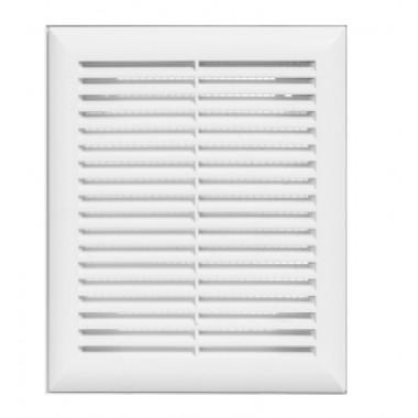 Решетка вентиляционная вытяжная 130*190 белая серия Н
