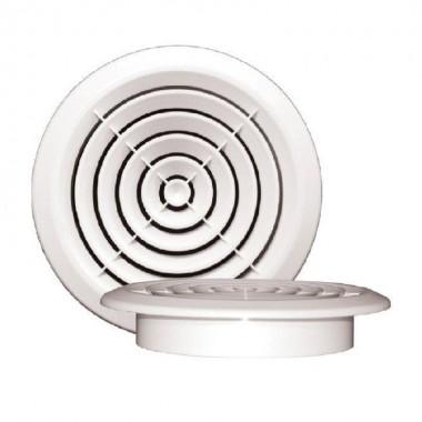 Диффузор круглый 170 с фланцем 125мм белый. Серия ДФ