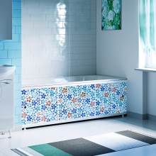 "Экран под ванну 1,5 м ""Оптима Decor"" (035 мозаика синяя)"