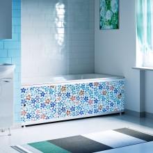 "Экран под ванну 1,7 м ""Оптима Decor"" (035 мозаика синяя)"