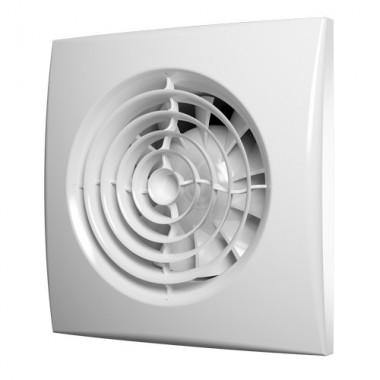 Вентилятор осевой вытяжной малошумная серия D 100 AURA 4C с обратным клапаном