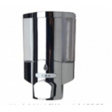 Диспенсер (MJ9010c) для жидкого мыла пластик/хром 380 мл, настенный