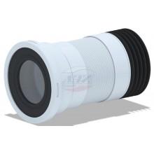 Отвод АНИ для унитаза гофрированный (K718R)