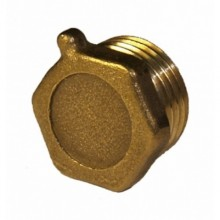 Заглушка латунная (колпак) Ду-32 внутр. резьба под пломбу (1005)
