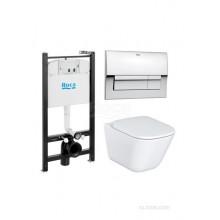 КОМПЛЕКТ: GAP (унитаз+сиденье+инсталляция+кнопка) 7.8931.0.4100 (ROCA)