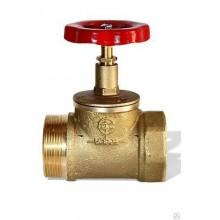 Вентиль латунный (муфта-цапка) Ду=50мм; Ру1,6МПа КПЛ 50-1