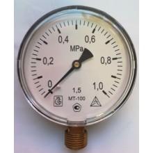 Манометр технический МТ-100 (1,0 МПа) 1п/г19