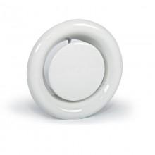 Анемостат приточно-вытяжной металлический с фланцем Д - 125 мм белый. серия АПВМ