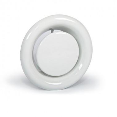 Анемостат приточно-вытяжной металлический с фланцем Д - 150 мм белый. серия АПВМ