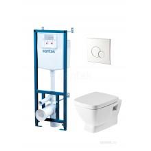КОМПЛЕКТ: НЕО (унитаз+сиденье+инсталляция+кнопка) 1.WH50.1.543 (SANTEK)