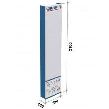 Стенд для душевых стоек VARION №3 пристенный mini арт.5990370 (без тумбы)