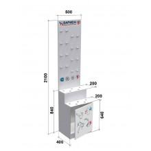 Стенд для смесителей VARION №4 пристенный mini арт.5990350