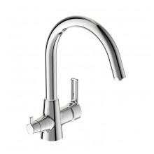 Смеситель VIDIMA UNO (арт.BA356AA) 2 в 1 для кухни с подключением питьевой воды