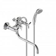 Смеситель VIDIMA TRINITY (арт.BA261AA) для ванны, дл.S излив 250 мм, пласт/мах.
