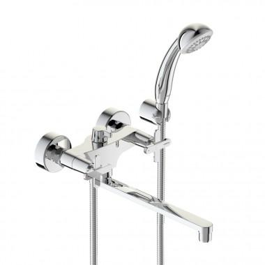 Смеситель VIDIMA ART (арт.BA329AA) для ванны, дл.пл.излив 250 мм,метал.мах