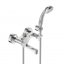 Смеситель VIDIMA ART (арт.BA328AA) для ванны, пл.излив 100 мм, метал.мах