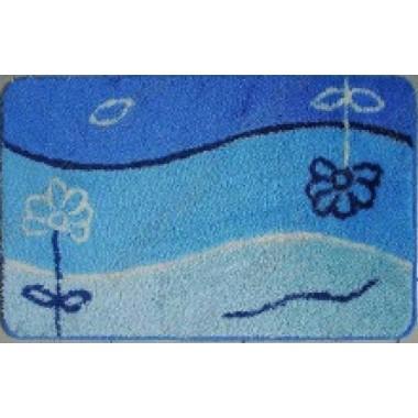 "Коврик для ванной ""Fantastik"" TP08206C 60х90см (ворс) сине-голубой"