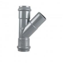 Тройник НПВХ SDR 26 раструбный 110 х 45 гр 1,0 МПа