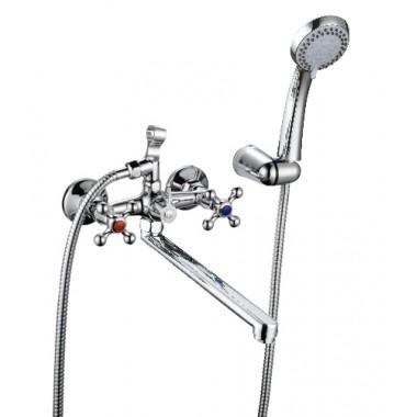 Смеситель КС КРЕСТ (8707254) для ванны, керамика, плоск.излив 300мм
