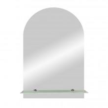 Зеркало Арка с полочкой 50х70